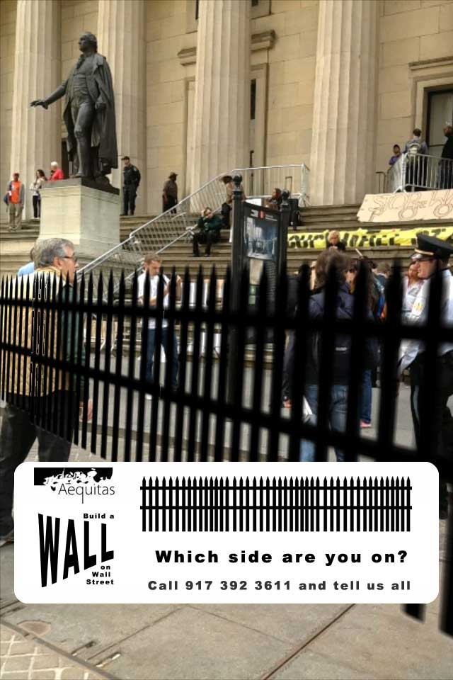 Wall on Wall Street augmented reality